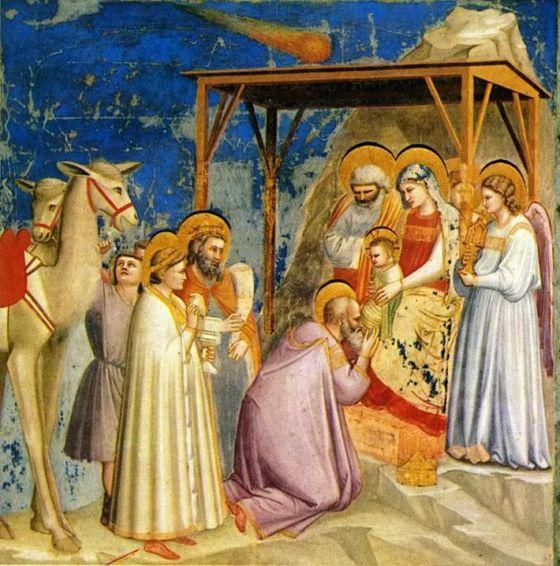 La Adoracion de los Reyes Magos, Giotto