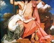 Zeus y Thetis de Ingres
