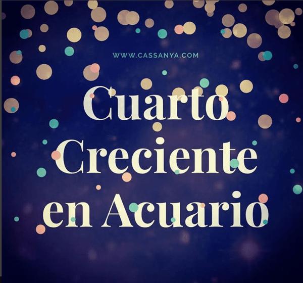 Cuarto Creciente en Acuario - Astrología por Vicente Cassanya